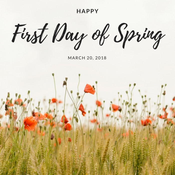 Snow On First Day Of Spring Makes Me >> Happy 1st Day Of Spring 2018 Matters Of The Heart